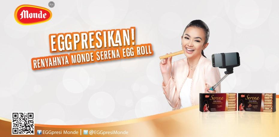 EGGpresikan Renyahnya Monde Serena Egg Roll